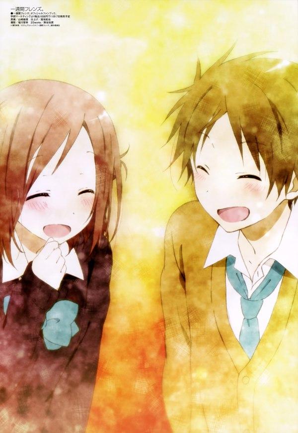 s - 1832483 - 1boy 1girl absurdres blush brown_hair closed_eyes fujimiya_kaori hase_yuuki highres